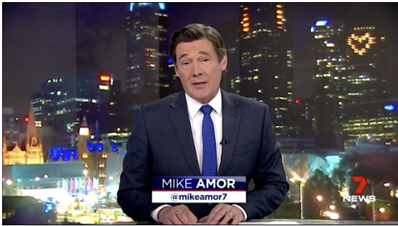 Mike Amor from Channel 7 live